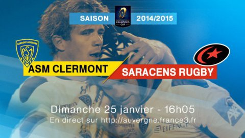 Suivez en direct la Coupe d'Europe de rugby : ASM / SARACENS