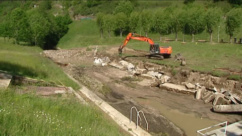 Satillieu : la destruction du plan d'eau de Grangeon