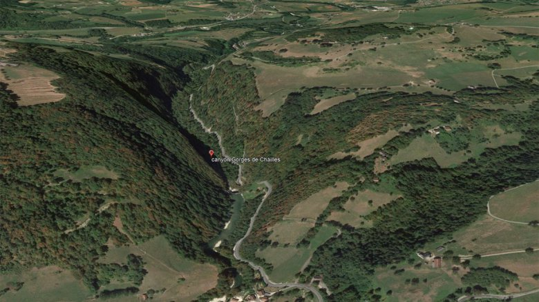 Le canyon des gorges de Chailles / © Google earth