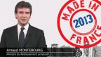 """A. Montebourg présente ses vœux """"made in France"""""""