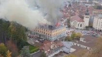 Incendie Annecy drone
