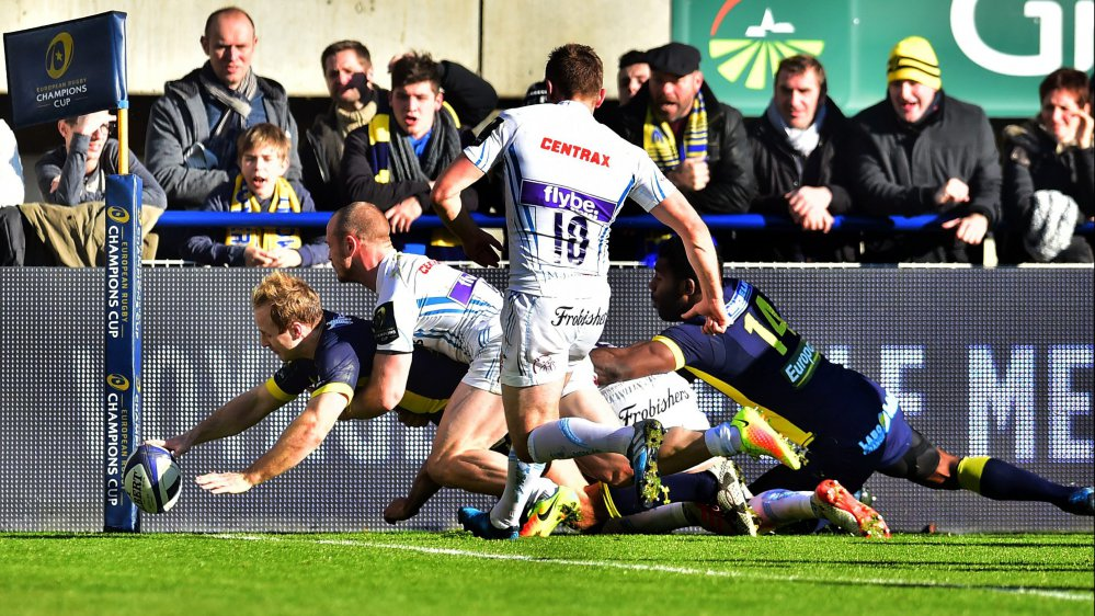 Coupe d'Europe : Clermont domine Exeter 48 à 26