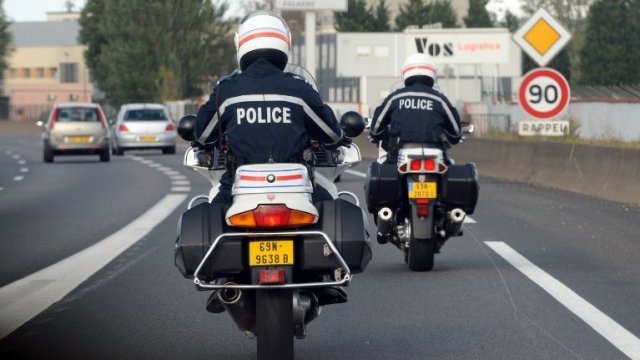 Illustration de motards de la police / © AFP