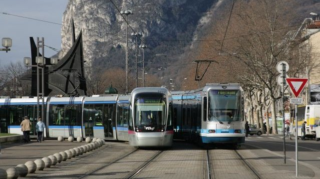 Trams à Grenoble / © CC by Gwenn Boussard