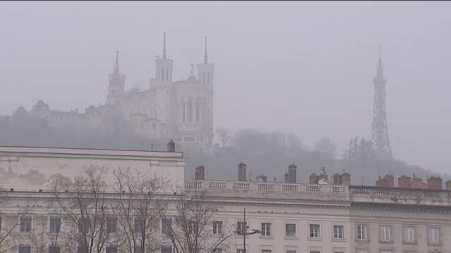 Jour de grande pollution à Lyon. Photo d'archives. / © France 3 Rhône-Alpes.