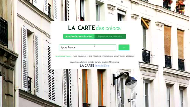 "la carte de coloc Colocation facile : zoom sur ""La carte des Colocs""   France 3"