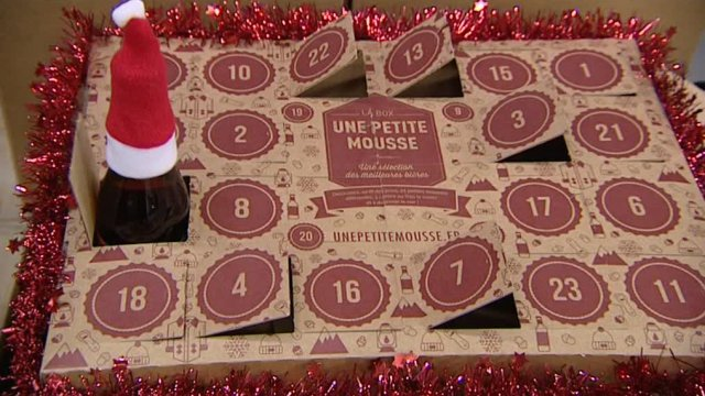 insolite un calendrier de l avent au go t de bi res en is re france 3 alpes. Black Bedroom Furniture Sets. Home Design Ideas