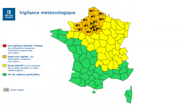 Our region n'is not the most threatened by the'episode snow. © Weather France