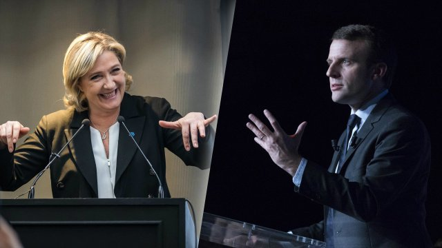 Elections presidentielle candidats programmes match meetings cote supporteurs marine