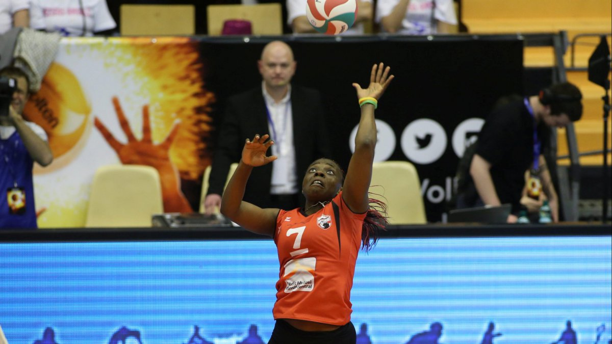 Christelle Tchoudjang Nana, capitaine du Volley Ball Club Chamalières / © MaxPPP