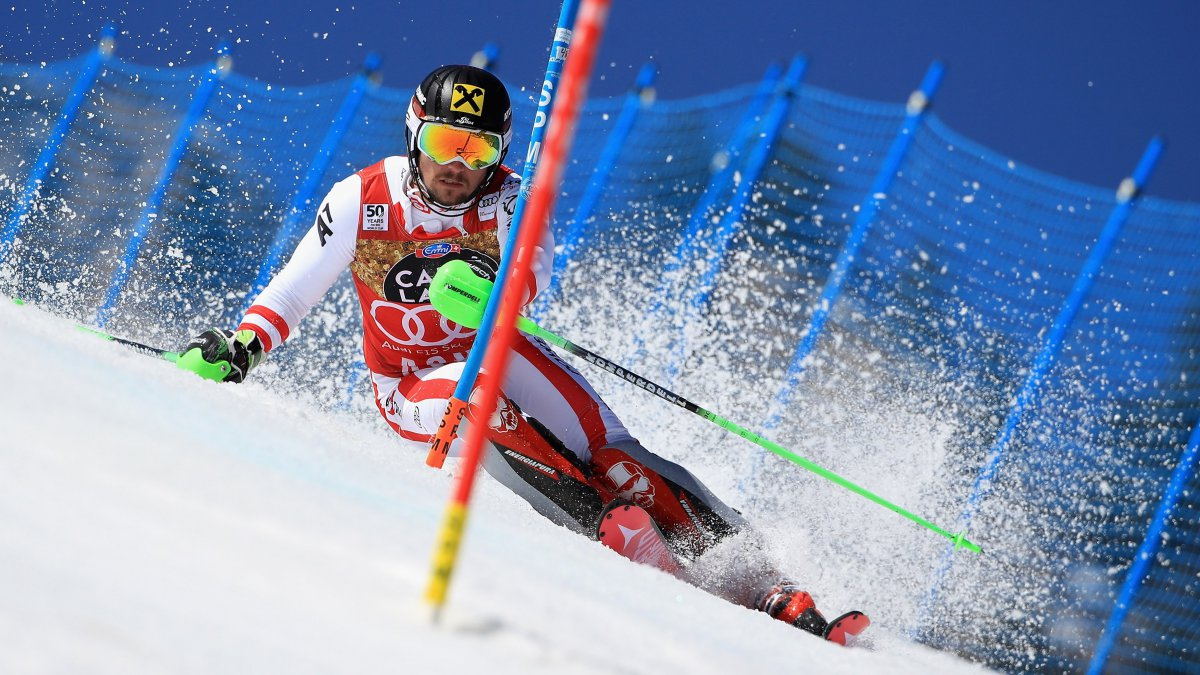 Marcel Hirscher à la coupe du monde à Aspen, au Colorado, le 19 mars 2017 / © EZRA SHAW / GETTY IMAGES NORTH AMERICA / AFP