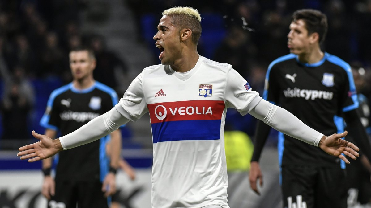 Mariano Diaz fête son but contre l'Appolon Limassol le 23 novembre 2017. / © JEFF PACHOUD / AFP