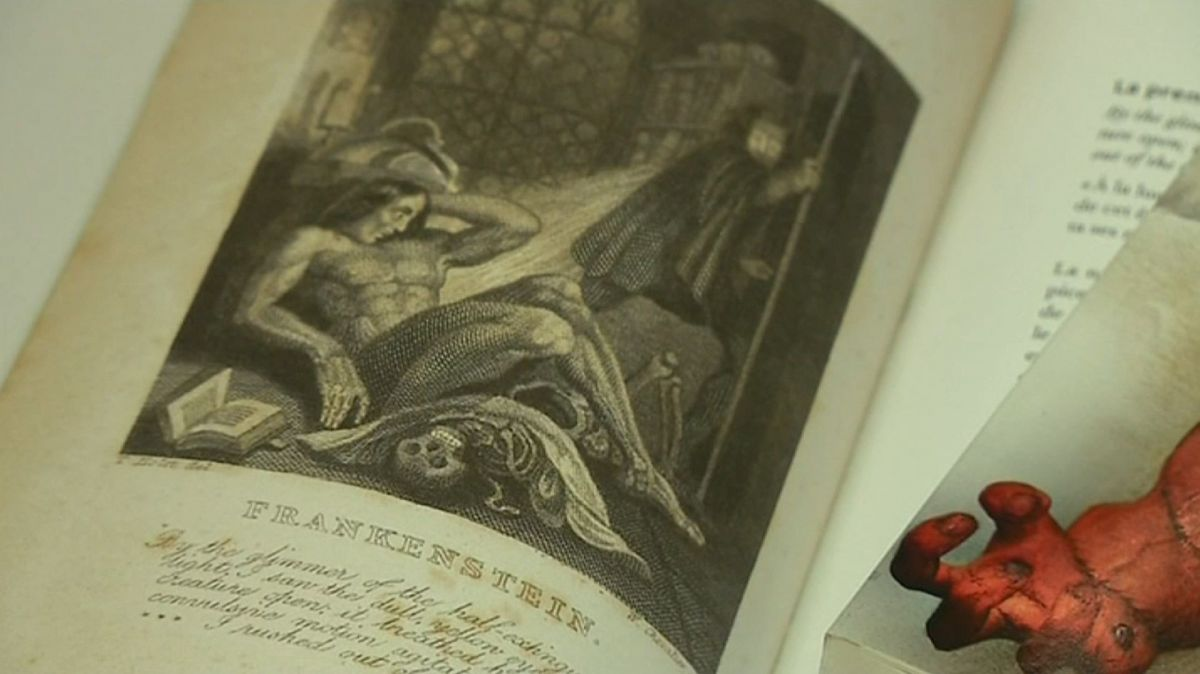 "Illustration du roman de Mary Shelley ""Frankenstein ou le Prométhée moderne"" / © France 3 Alpes"