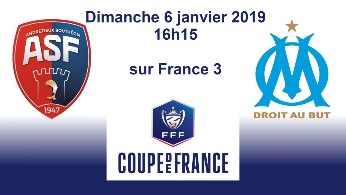 DIRECT VIDEO. Coupe de France de football : Andrézieux-Bouthéon / Olympique de Marseille | dimanche à 14h