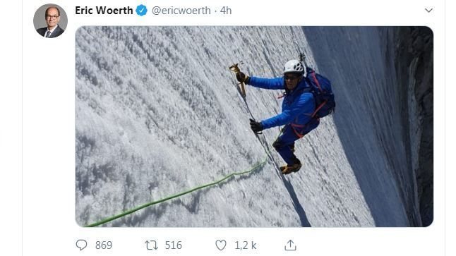 Eric Woerth en pleine ascension au Mont-Blanc ? La photo qui trouble les internautes