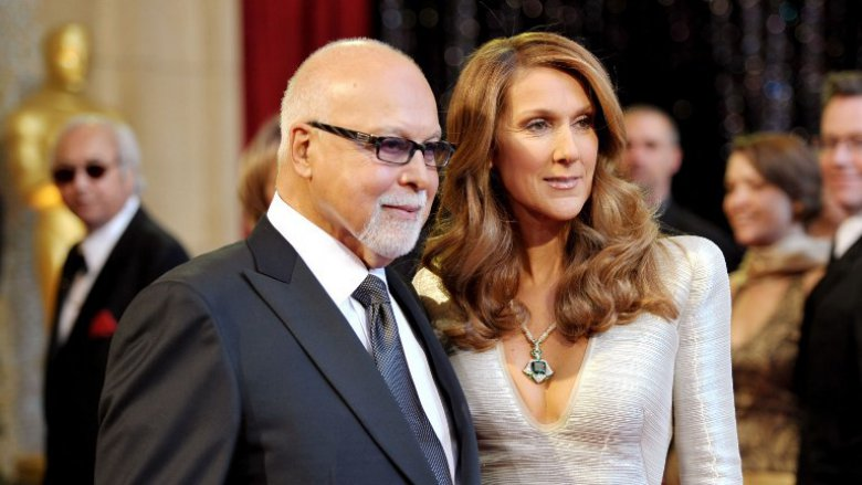 René Angelil et son épouse la chanteuse Céline Dion en 2011 / © John Shearer / GETTY IMAGES NORTH AMERICA / AFP