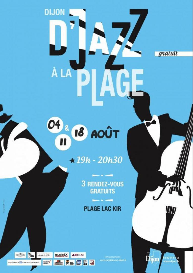 Affiche du festival D'Jazz à la plage 2017 / © Source : Office de tourisme de Dijon