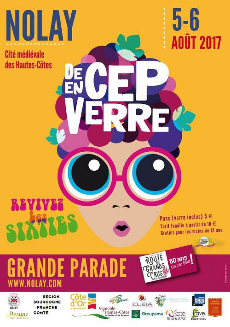 "Affiche 2017 ""De Cep en Verre"", fête viticole à Nolay / © Source : office de tourisme de Nolay"
