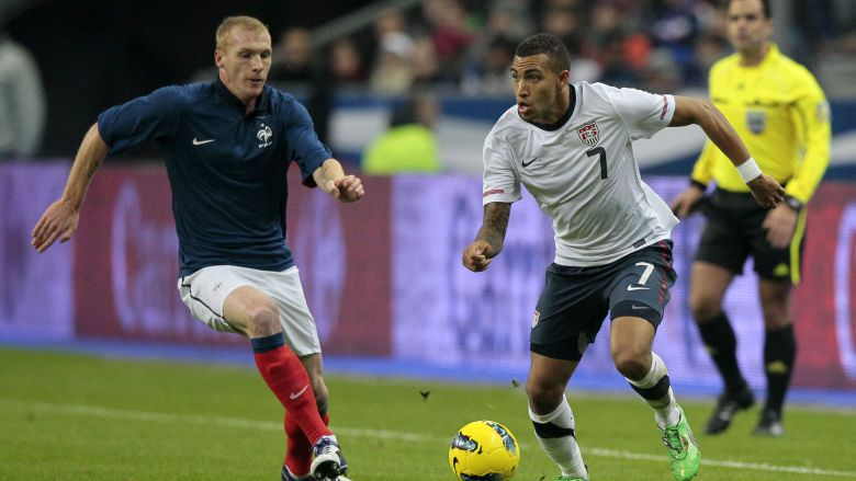 Jérémy Mathieu, contre le Portugal en 2011. / © JACQUES DEMARTHON / AFP
