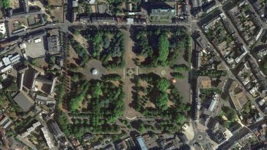 Le parc Salengro de Nevers. / © Google Earth