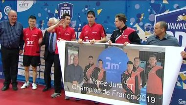 Le club de Morez est champion de France 2019 de tennis de table. / © France 3 Franche-Comté : Hugues Perret