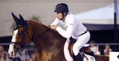 Mâcon (71) : Guillaume Canet participe au premier concours du jumping international