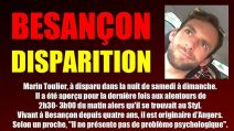 Disparition d'un Bisontin de 31 ans