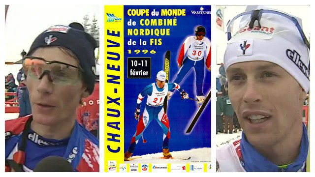 1996 - on vient encourager Sylvain Guillaume et Fabrice Guy / © France 3 Franche-Comté