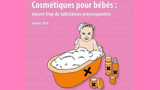 L'association Women in Europe for a Common Future (WECF) dénonce la présence de substances chimiques potentiellement dangereuses ou allergènes dans les cosmétiques pour bébés. / © WECF
