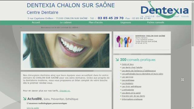 Le site internet de Dentexia
