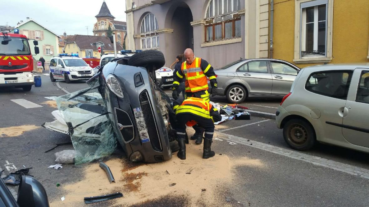 Grave accident de la circulation au centre de Belfort