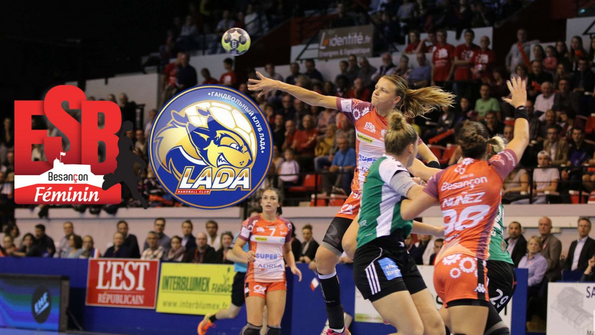 Coupe d'Europe de handball<br>suivez en direct le match retour<br>ESBF - Lada Togliatti