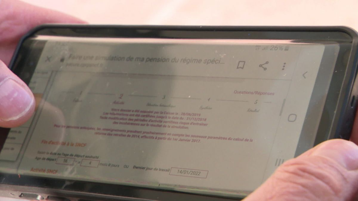 Le simulateur de retraite interne à la SNCF. / © Hugues Perret/France 3