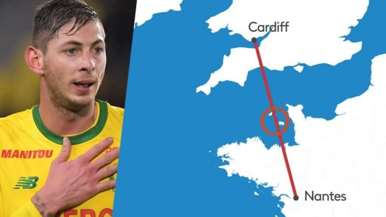 Disparition d'Emiliano Sala : la carte du vol / © France 3 Bretagne