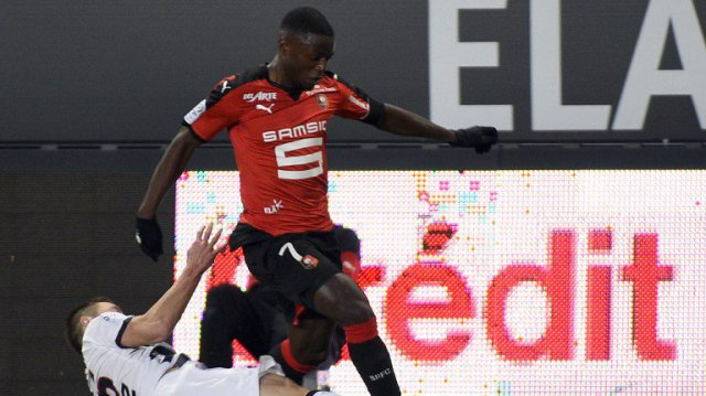 Paul Georges Ntep, attaquant du Stade Rennais face à Bordeaux - 22/11/2015 / © AFP - D. Meyer
