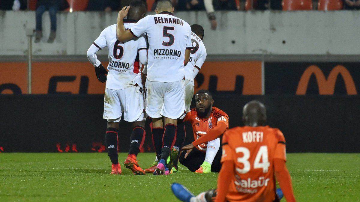 Ligue 1 : le FC Lorient s'incline contre l'OGC Nice (0-1)