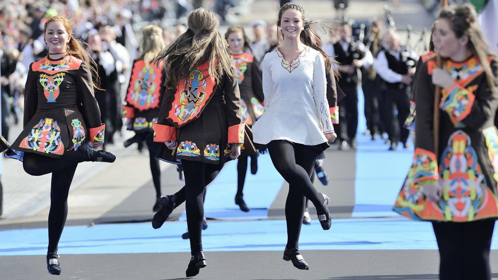 Durant la grande parade des nations celtes / © AFP