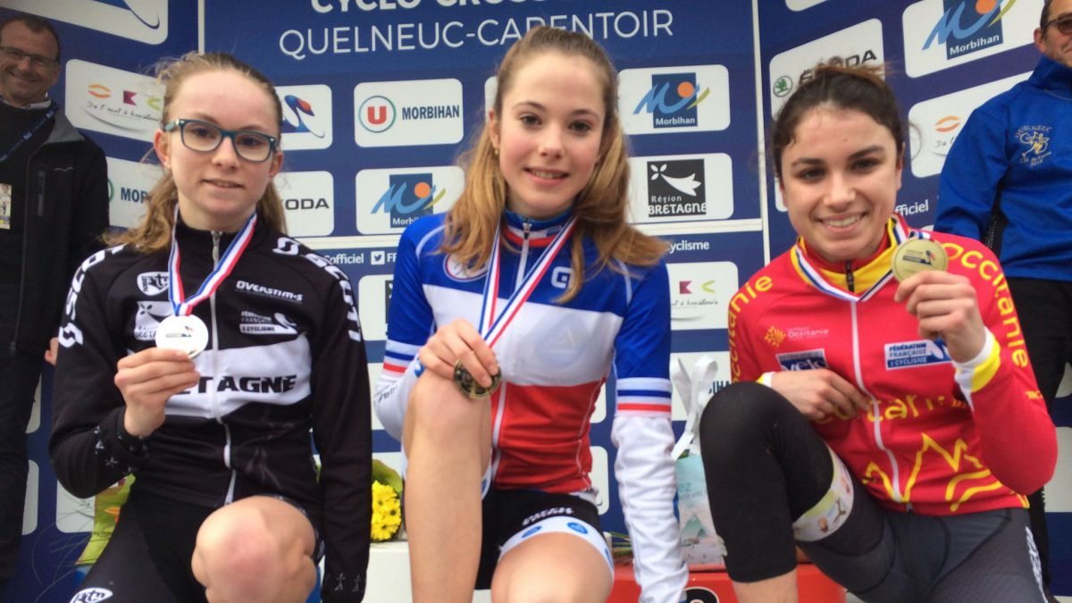 Quelneuc. Championnats de France de cyclo-cross: les premiers podiums