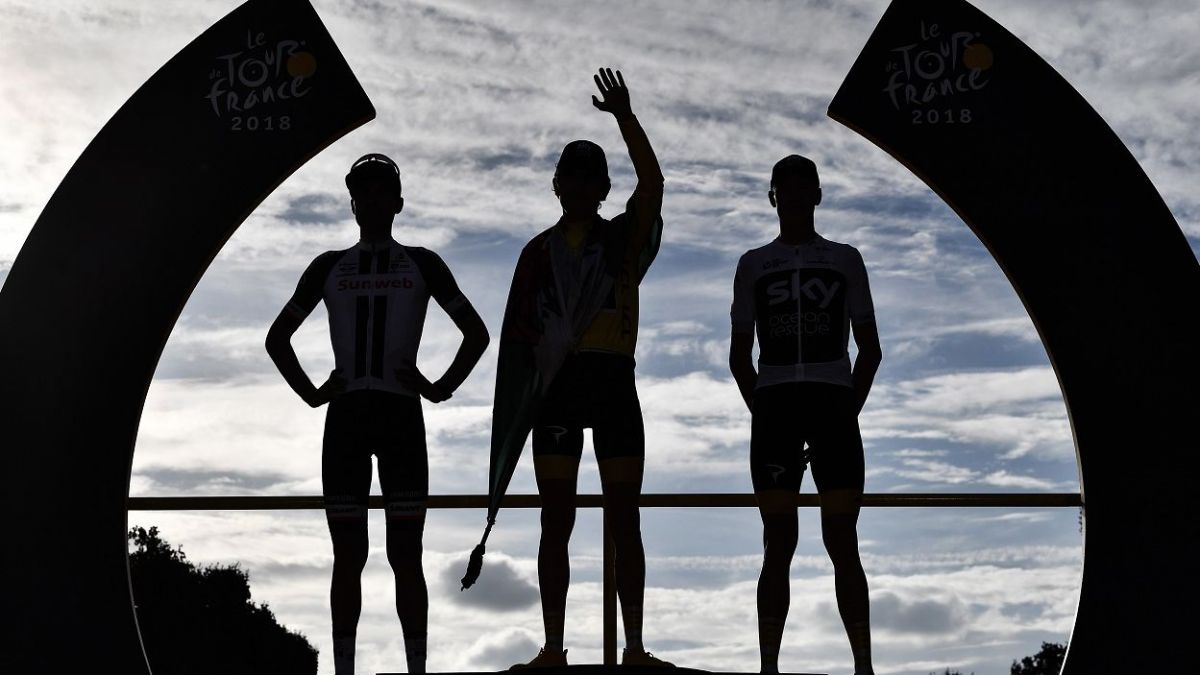 Le podium du Tour de France 2019 / © Jeff PACHOUD AFP