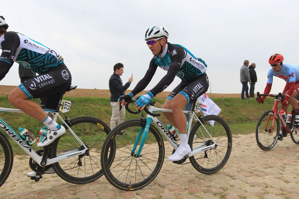 Jimmy TURGIS le 14 avril 2019 sur Paris Roubaix / © PHOTOPQR/LE COURRIER PICARD/MAXPPP