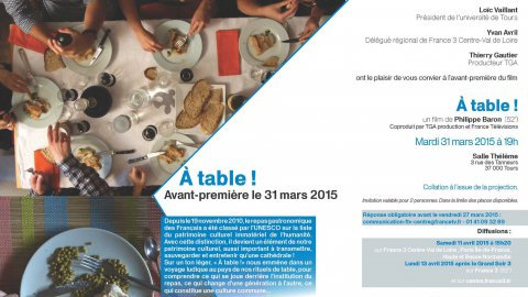 "Invitation ""A table"""