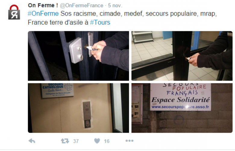 / © Page twitter @OnFermeFrance