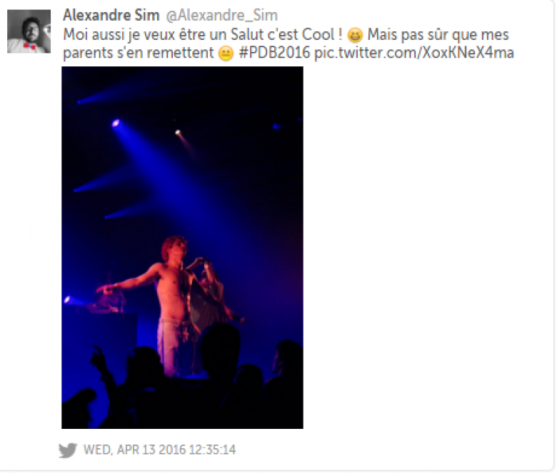 © Tweet d'un fan de Salut c'est Cool