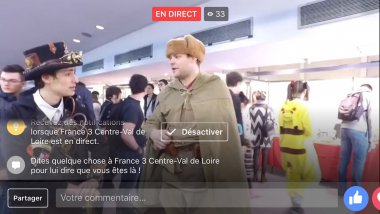 Facebook Live à la Japan Tours Festival 2017 / © France 3 Centre-VDL
