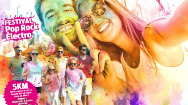 La Happy Color Tours : une fête colorée !! / © Happy Color Tours