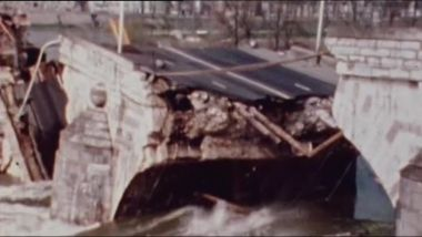 Effondrement du Pont Wilson à Tours le 9 avril 1978 / © Ina