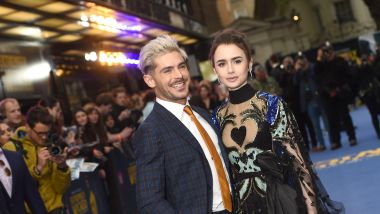 "Avril 2019. Zac Efron and Lily Collins sur le tapis rouge, lors de la première du film ""Extremely Wicked"" à Londres. / © ALPHAPRESS/MAXPPP"