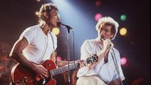Eddy Mitchell et Johnny Hallyday au Printemps de Bourges 1985