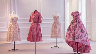 Dior, robes roses