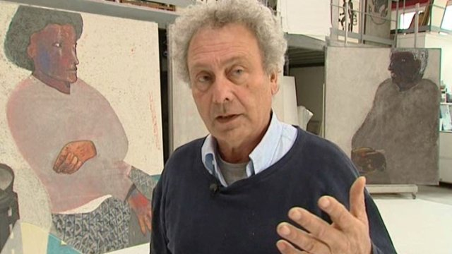 Pierre Antionuicci, peintre, sculpteur. / © France 3 Centre